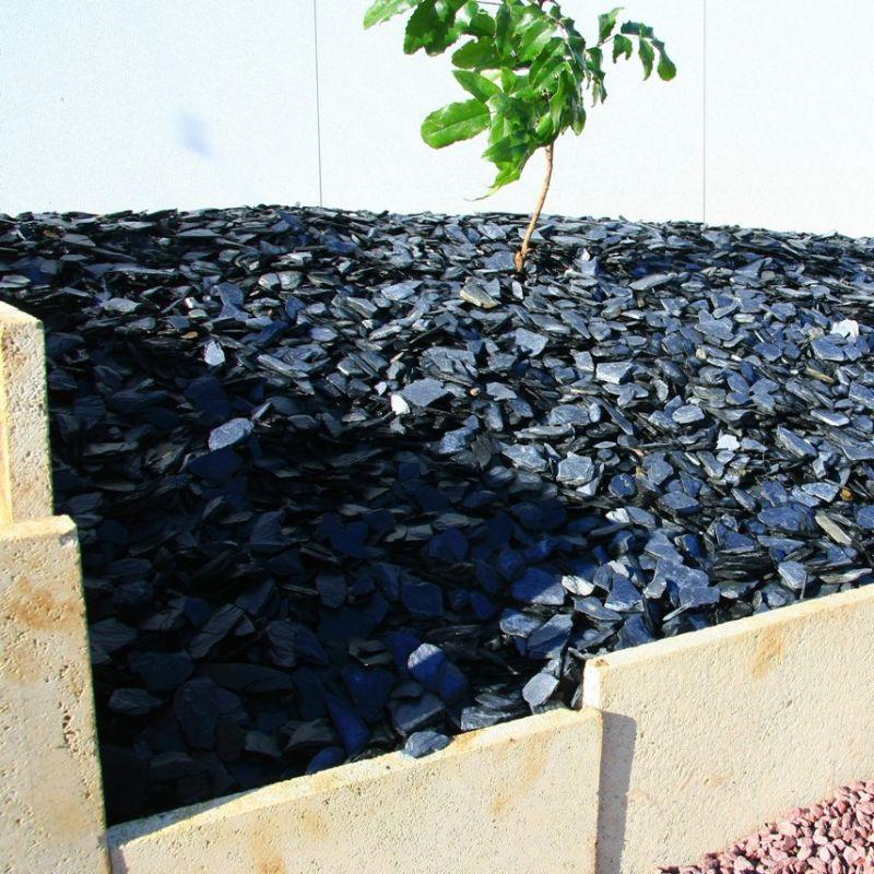 sac de gravier d coratif paillage p tale d 39 ardoise d. Black Bedroom Furniture Sets. Home Design Ideas