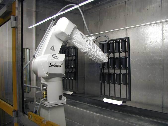 Wet Paint Coating With Industrial Robots Automation