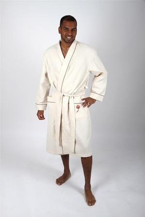 Clara linge large size men 39 s bathrobe large size women 39 s bathrobe f - Peignoir homme descamps ...