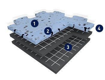 Industrieboden Aufbau Glasfaserverstärkt