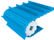 Perforated conveyor belt