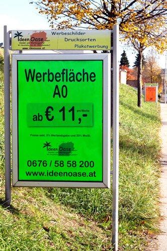 Straßenwerbung - Werbeflächen