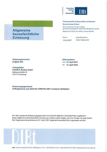 Zulassungs-Nr. DIBt Z – 38.5-174