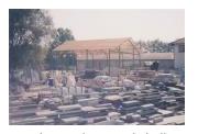 Bau der zweiten Werkshalle 1991