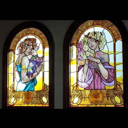 Vidrieras rela o pe a murales de cer mica vidrieras - Espejos de ceramica ...