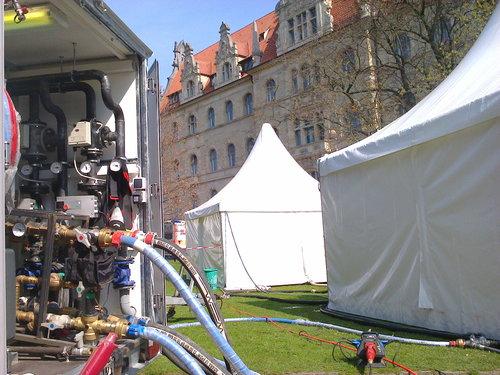 Eventbeheizung Marathon Hannover