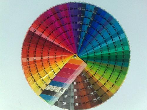 Ein Teil der großen Farbauswahl