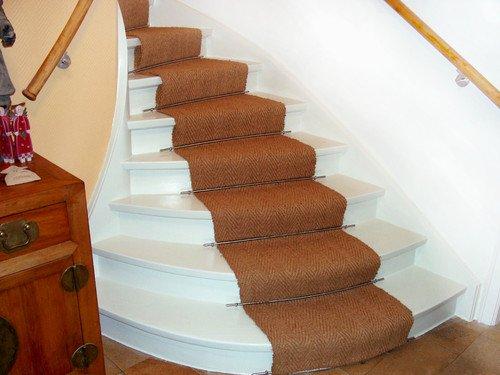 Kokosläufer auf Treppe