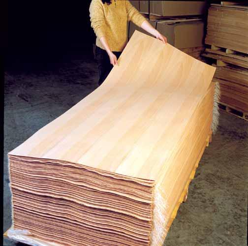 Cabannes bois de placage sur europages for Placage bois en rouleau