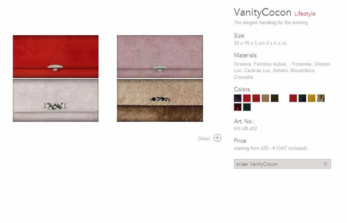 vanity cocon ladies evening bag