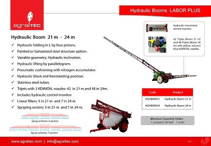 Hydraulic Boom LABOR 21 & 24 meters