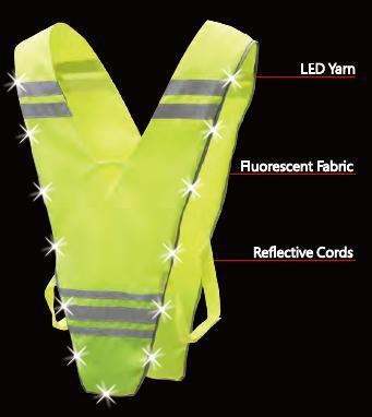 Washable LED Security vest