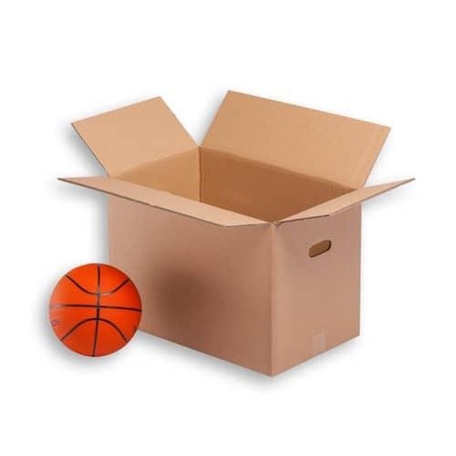 Cardboard boxes for removals standar size doubled wall very strong with handles This size is aprox. the standar size moving company uses Size 55x35x40