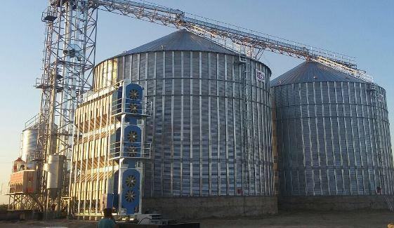 Horizontal graindryer 60tons/hour capacity.