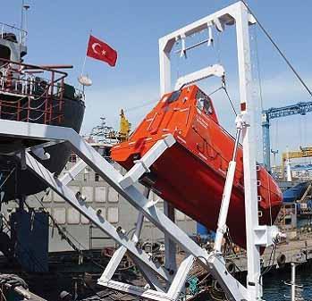 Free fall Lifeboat Davit