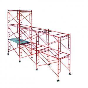 Échafaudage à cadre permettant à l'entreprise de construction de travailler en toute sécurité. Un système simple et rapide à monter. Matériel: s235, peinture en orange certificat: ISO9001:2008