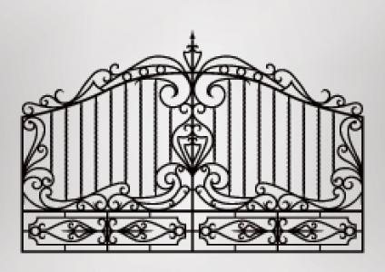 Hand wrought iron metal gates production and export