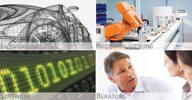invenio überzeugt mit innovativen Lösungen in den vier Geschäftsfelder Entwicklung, Industrialisierung, Software und Beratung.