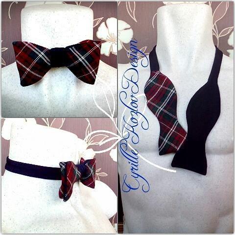 tartan bowtie