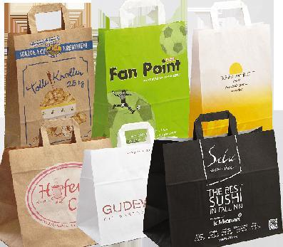 Paper bags, company logo