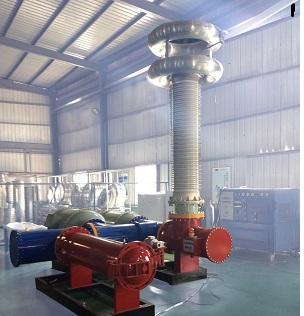 Установка для высоковольтных испытаний электрической прочности изоляции распределеительных элегазовых устройств   КРУЭ и измерения уровня частичных разрядов
