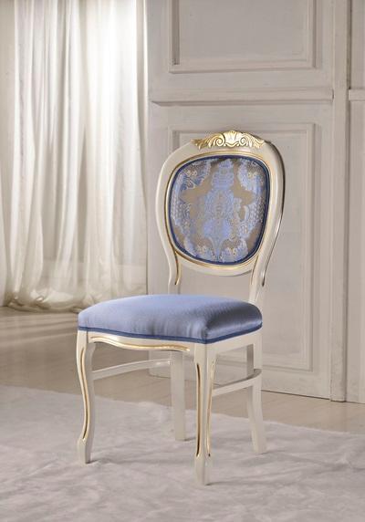 Scaun clasic italian realizat din lemn de fag. Se poate vopsi in culori la alegerea clientului. Este un scaun destinat restaurantelor luxoase.