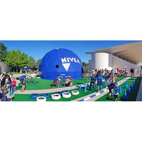 Smartdome geodesic dome in Disney Magic Run Madrid