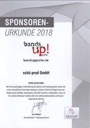 Sponsoren-Urkunde