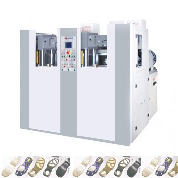 2 STATIONS 2 COLORS PVC-THERMOPLASTIC-TPU SHOE SOLES INJECTION MACHINE