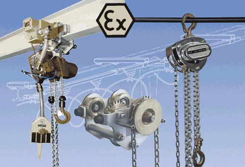 EX-protected lifting and handling equipment