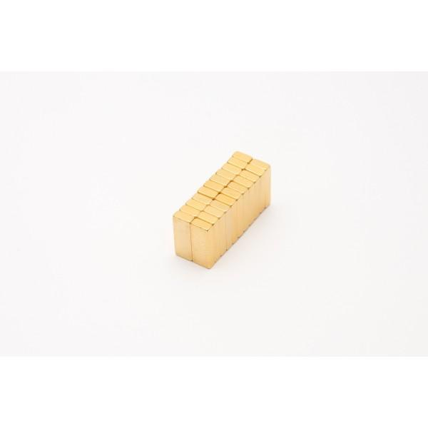 wholesale block magnet, gold coated