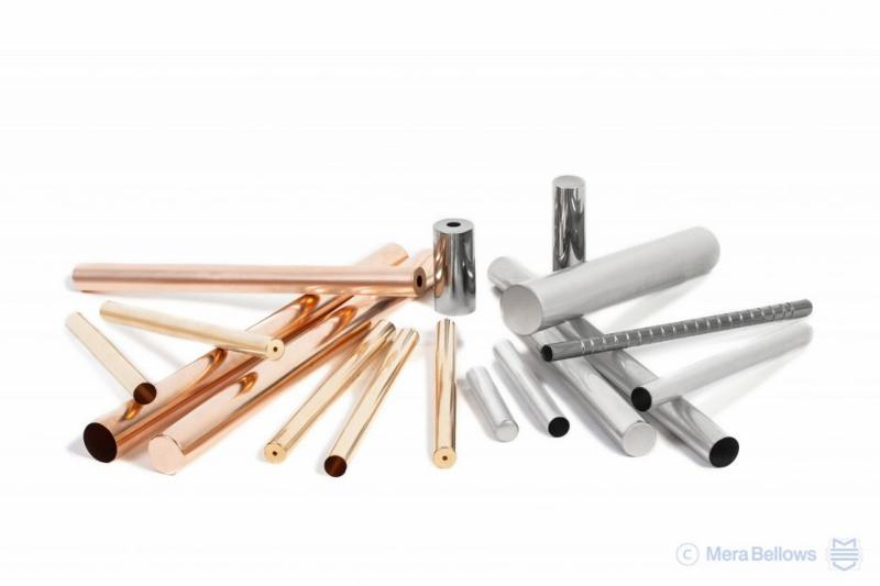 Deep-drawn precision tubes in Bronze, Brass or stainless steel