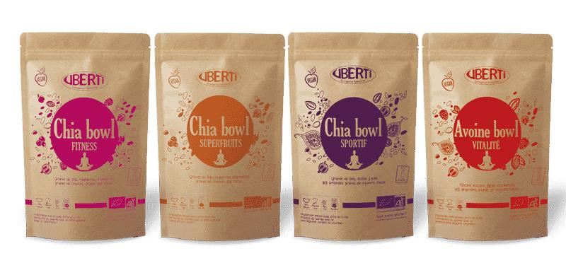 Chia bowl and Oat bowl