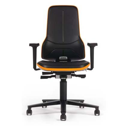 Industrial swievel chair with several mechanism options and upholsteries including a brand new Superfabric material. Includes ergonomy package. Neon is the flagship for modern industry.
