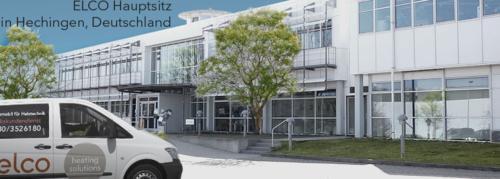 Gebäude und Firmenwagen