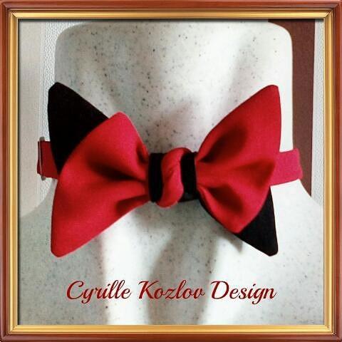 red-black bowtie