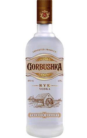 "We use specially made rye crackers aromatic spirit to produce our Special Vodka ""GORBUSHKA Rye""."