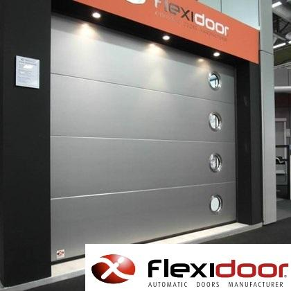 : Flexidoor provide sectional doors. The panel is a key component appearing in different shapes: Groove, Wood, Frame, Flat, Micro-Rib. There are also panels in aluminum plate.