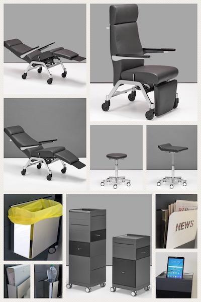 Medizinische Sitz- und Liegeinseln