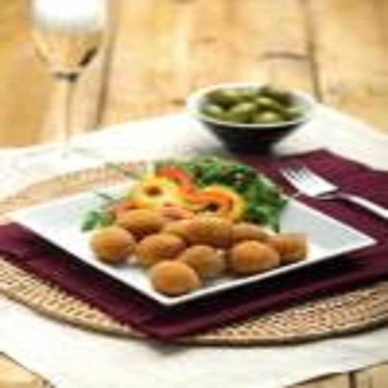 Le Olive ripiene all'Ascolana, piatto tipico della gastronomia marchigiana.