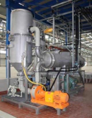 Low energy consumption 0,18kW/l distillate Concentrate H2SO4 / H3PO4 / Aluminium