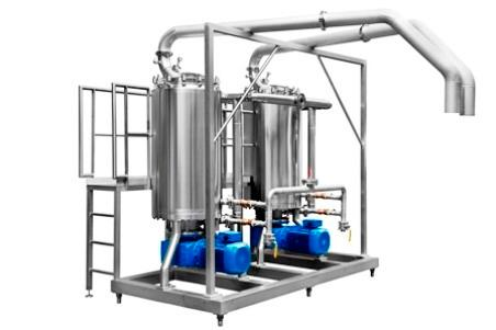 This configuration allows product to simultaneously feed through 2 or more Kelstream units in parallel. This allows simple and substantial increases in production output rates.
