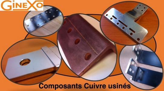 Composants cuivre usinés