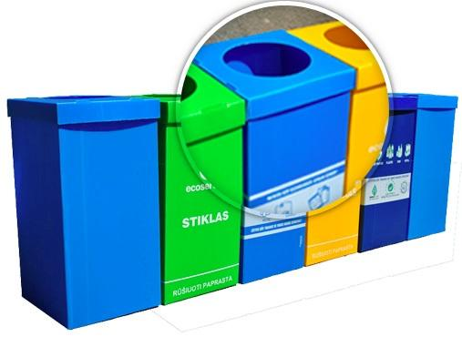 PP Waste Collection Bins ( Recycling Bin ) which are widely used in Recycling Industry. 