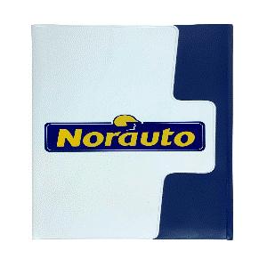 Porte-documents avec logo en PVC. En matières Budget 100% recyclables. 9 coloris matières en stock, nuancier gratuit envoyé sur simple demande.