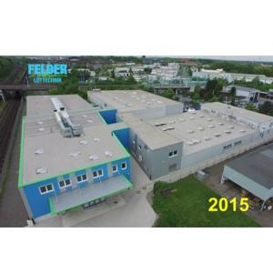 FELDER GMBH has been producing first-class solder products for more than 30 years.The expansion of the production halls and warehouses to a total of 7000 m² now has been concluded in 2015
