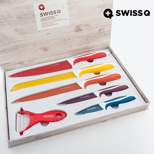 Set di 6 coltelli in ceramica Swiss Q con cofanetto magnetico