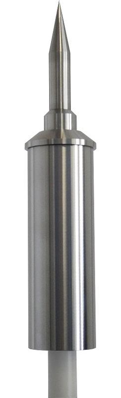 Pararrayos con dispositivo de cebado fabricado en acero inoxidable AISI 316. Cumple los requerimientos de las siguientes normas: UNE 21186 - UNE EN 62305 - NFC 17102 - NP 4426 - CTE - REBT