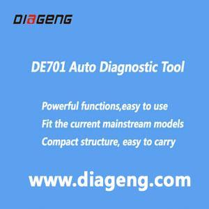 DE701 is a universal car diagnostic tool, it can do Toyota, GM, Ford, Chrysler, VW, volvo, audi, Mercedes-Benz, BMW, LAND ROVER, Volvo, JAGUAR, Opel, FIAT, rich, Saab, Peugeot, Renault, Citroen, etc.