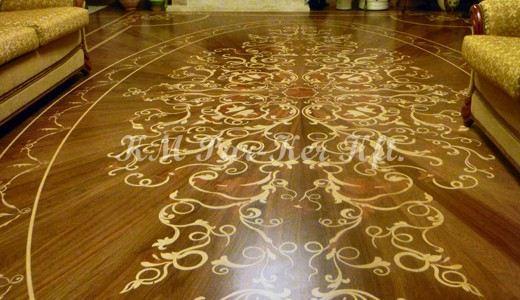Wood inlay floor
